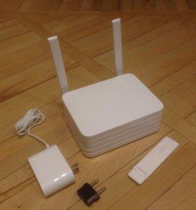 WiFi-роутер+ Сетевое хранилище на 1Tb+ WiFi Repeat