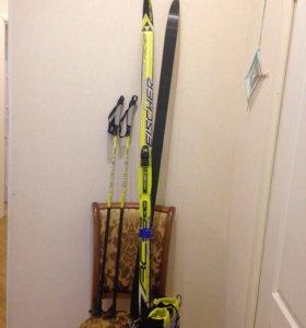 Комплект Fischer (лыжи,палки,ботинки)