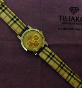 Часы наручные -хронограф расцветки Burberry