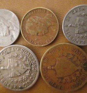 Продам монеты.Куба.