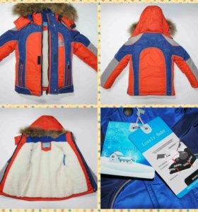 Новая зимняя куртка с меховой подкладкой