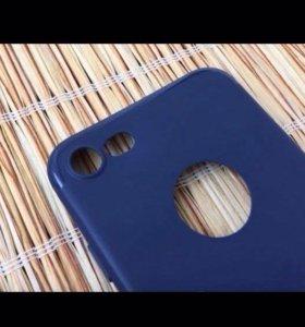 """Чехол """" Синий, матовый """" для iPhone 7"""