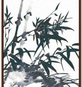 Бамбук картина по номерам