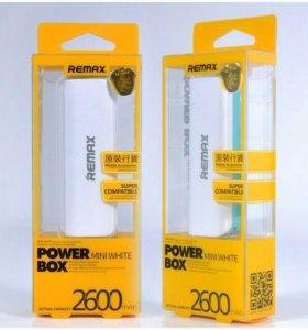 Внешний аккумулятор Remax Power Bank Mini 2600 mAh