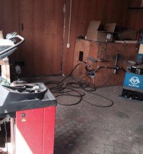 Шиномонтаж гараж склады ангары