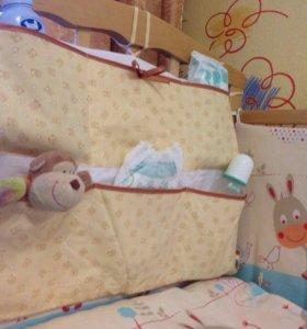 Кармашки в кроватку