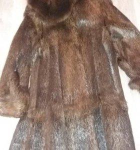 Шуба натуральный мех (нутрия)