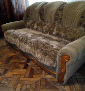 Мебель мягкая диван и два кресла