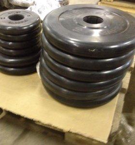 Диски (блины) для штанг и гантелей 26, 31 и 51 мм