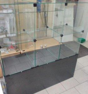Продам две стеклянные витрины. 120*40