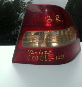 Правый фонарь королла 120