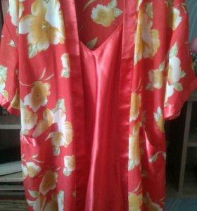 Сорочка с халатом