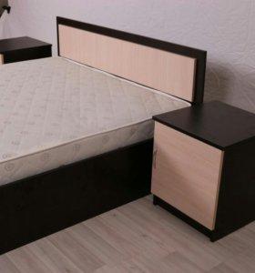Кровать с матрасом 160+200
