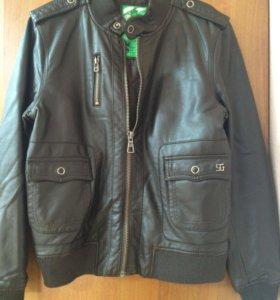 Куртка кожа Лайка. Утеплённая
