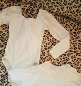 Купальник для гимнастики и юбочка