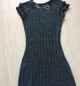 Платье короткое вязаное 42 размер