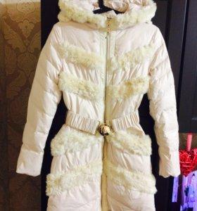 Новое пальто на весну с мехом кролика!