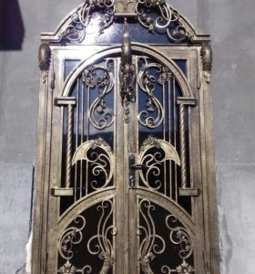 Кованные двери ворота