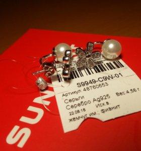 ⚠️ Серебрянные серёжки!
