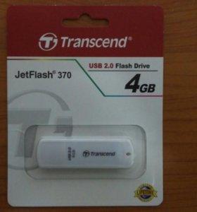 Флешка 4Gb Transcend JetFlash 370,USB 2.0,белый