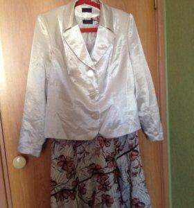 Платье с пиджаком 54р