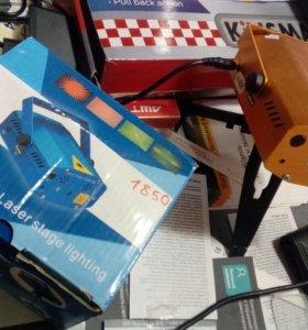 Лазер светомузыкальный с мр3 плеером