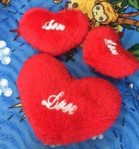 Мягкие подушки сердце