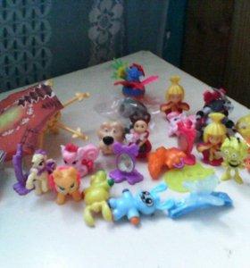 Продам мягкие игрушки +игрушки из киндоров
