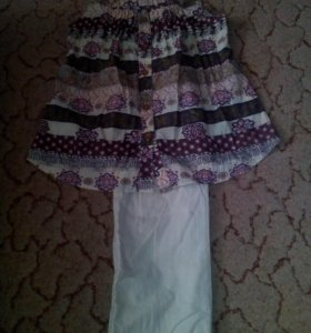 Летний костюм для беременной девушки.