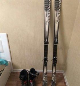 Лыжи горные и ботинки