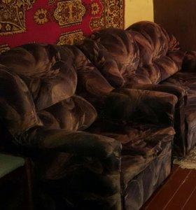 Диван кровать+ 2 кресла кровать