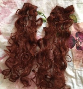 Волосы на заколках, тресы