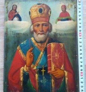 Икона 19 век Христов Николай.