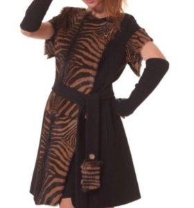 пальто - жилетка натуральный мех