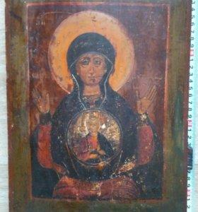 Икона 19 век Богородица Знамение.