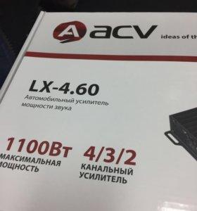 Усилитель 4канала acv lx-4.60 новый