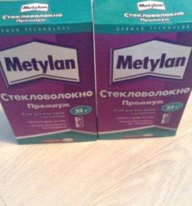 Клей Metylan и стеклообои потолочная рогожка