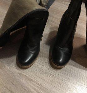 Сапоги кожаные,37 размер