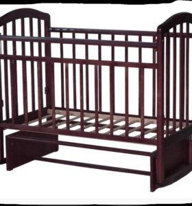 Кроватка детская, маятник, венге