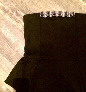 Платье с баской Mango