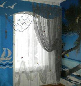 Пошив штор,покрывал.Карнизы,рулонные шторы.