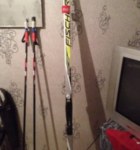 Лыжи-fisher, ботинки-trek