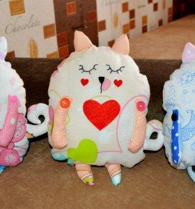 Котики -подушки ручной работы