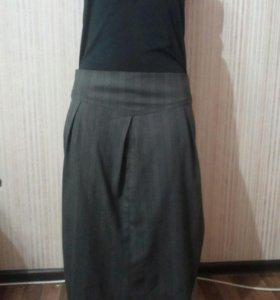 Серая длинная юбка Elis