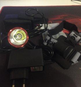Мощный фонарь 1800 люмен с аккумулятором
