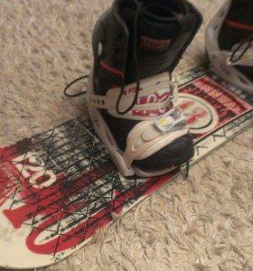 Подростковый сноуборд с ботинками