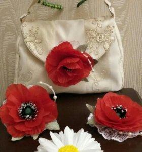 Текстильная сумочка для девочки.