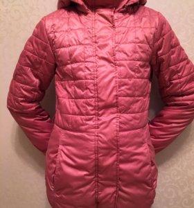 Куртка для девочки удлиненная рост 140 + подарок