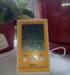 Крытый открытый ЖК термометр гигрометр