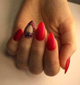 Маникюр , покрытие ногтей гель лаком